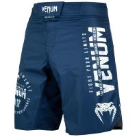Шорты ММА Venum Signature - Navy Blue/White