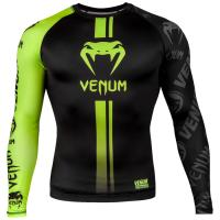 Рашгард Venum Logos - Black/Neo Yellow