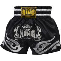 Тайские Шорты Top King Boxing - Black/Silver