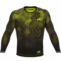 Рашгард Venum Fusion Long Sleeves - Black/Yellow