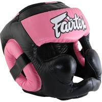 Боксёрский Шлем Fairtex Extra Vision - Black/Pink