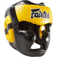 Боксерский Шлем Fairtex Extra Vision HG13 - Black/Yellow