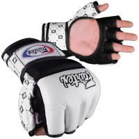 Перчатки ММА Fairtex FGV17 - White/Black