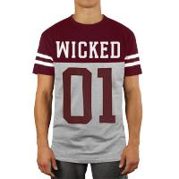 Футболка Wicked One Quarterback - Grey/Red