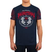 Футболка Wicked One Muay Thai - Navy/Red