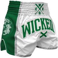 Шорты Муай Тай Wicked One - White/Green
