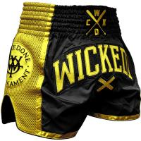 Тайские шорты Wicked One Muaythai W.O.T. - Black/Gold