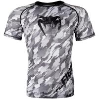 Рашгард Venum Tecmo Short Sleeves - Black/Grey