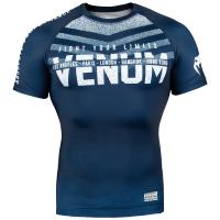 Рашгард Venum Signature - Navy Blue/White