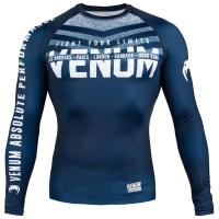 Рашгард Venum Signature LS - Navy Blue/White