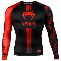 Рашгард Venum Logos LS - Black/Red
