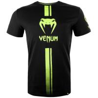 Футболка Venum Logos - Black/Neo Yellow