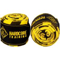 Боксерские бинты Hardcore Training Cross The Line - Yellow/Black (3.5m)