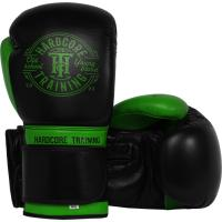 Боксерские перчатки Hardcore Training Premium - Black/Green