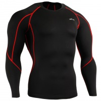Рашгард EMFRAA Tight Black Shirt - Red