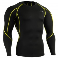 Рашгард EMFRAA Tight Black Shirt  - Yellow
