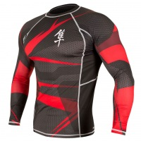 Рашгард Hayabusa Metaru 47 Silver Longsleeve - Black/Red