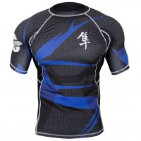 Рашгард Hayabusa Metaru 47 Silver Shortsleeve - Black/Blue