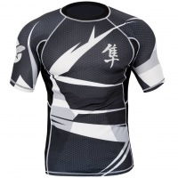 Рашгард Hayabusa Metaru 47 Silver Shortsleeve - Black/White