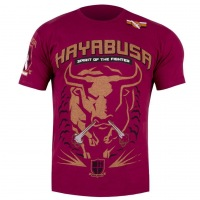 Футболка Hayabusa Raging Bull - Burgundy/Orange