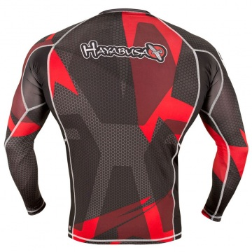 Рашгард Hayabusa Metaru 47 Silver Longsleeve - Black/Red | Фото 2