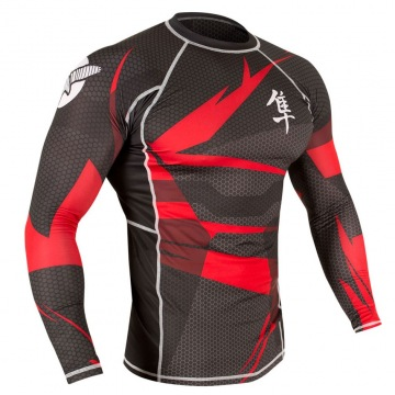 Рашгард Hayabusa Metaru 47 Silver Longsleeve - Black/Red | Фото 1