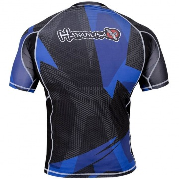 Рашгард Hayabusa Metaru 47 Silver Shortsleeve - Black/Blue | Фото 1
