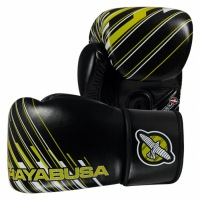Перчатки Боксерские Hayabusa Ikusa Charged 14oz - Black/Lime Green