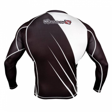 Рашгард Hayabusa Recast Long Sleeve - Black/White | Фото 2