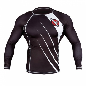 Рашгард Hayabusa Recast Long Sleeve - Black/White | Фото 1