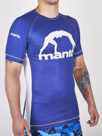 Рашгард Manto Logo Short Sleeve - Blue