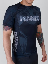 Рашгард Manto Wrestlers Short Sleeve - Black