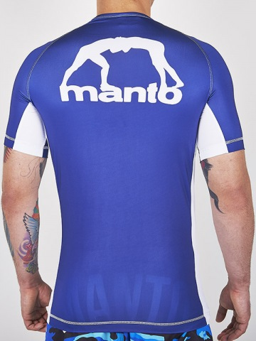 Рашгард Manto Logo Short Sleeve - Blue | Фото 1