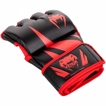 Перчатки MMA Venum Challenger Without Thumb - Black/Red | Фото 1