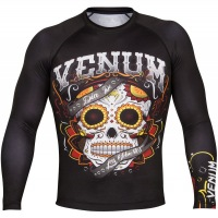 Рашгард Venum Santa Muerte 2.0 Long Sleeves - Black