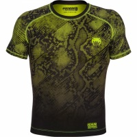 Рашгард Venum Fusion Short Sleeves - Black/Yellow