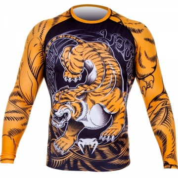 Рашгард Venum Tiger - Black/Orange