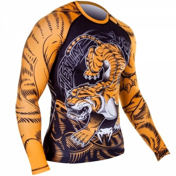 Рашгард Venum Tiger - Black/Orange | Фото 1