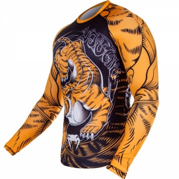 Рашгард Venum Tiger - Black/Orange | Фото 2