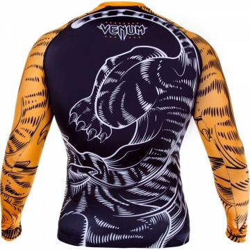 Рашгард Venum Tiger - Black/Orange | Фото 3