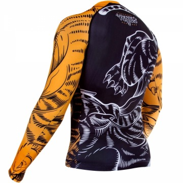 Рашгард Venum Tiger - Black/Orange | Фото 4
