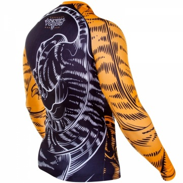 Рашгард Venum Tiger - Black/Orange | Фото 5