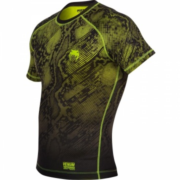 Рашгард Venum Fusion Short Sleeves - Black/Yellow | Фото 2