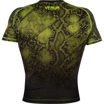 Рашгард Venum Fusion Short Sleeves - Black/Yellow | Фото 3
