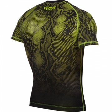 Рашгард Venum Fusion Short Sleeves - Black/Yellow | Фото 4