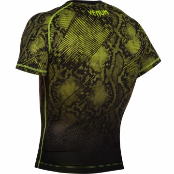 Рашгард Venum Fusion Short Sleeves - Black/Yellow | Фото 5