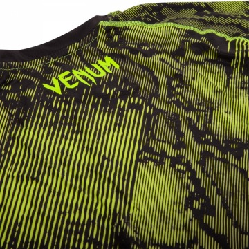 Рашгард Venum Fusion Short Sleeves - Black/Yellow | Фото 7
