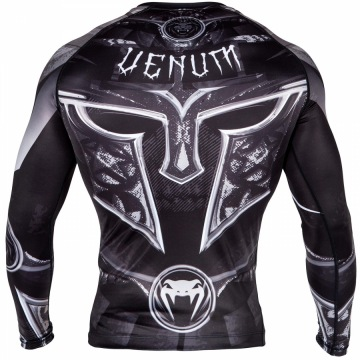 Рашгард Venum Gladiator 3.0 Long Sleeves - Black/White | Фото 3