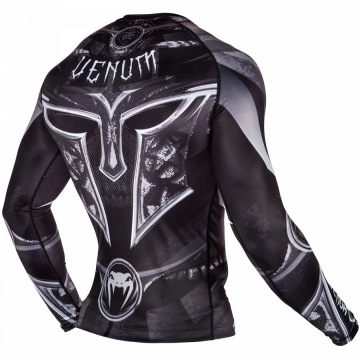 Рашгард Venum Gladiator 3.0 Long Sleeves - Black/White | Фото 2
