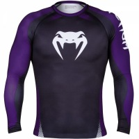 Рашгард Venum No Gi IBJJF Long Sleeves - Black/Purple